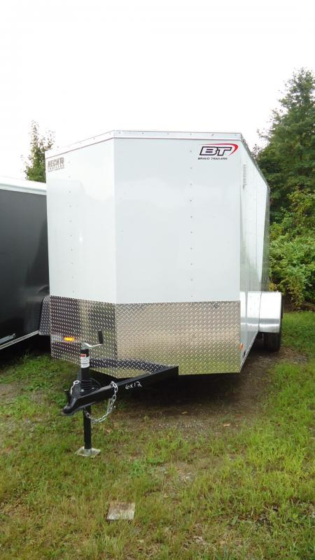 2020 Bravo Trailers 6X12 SC SA 18V LD RAMP APP WHITE SILVER Enclosed Cargo Trailer
