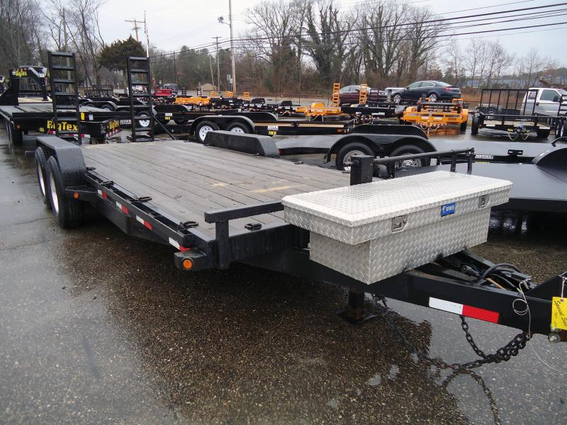 2014 Big Tex Trailers USED EH 7X20 14ET 20 14K W DT BLACK Equipment Trailer