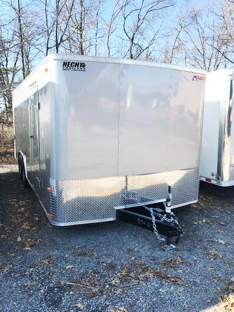 2019 Pace American 8.5X20 OB TE3 RAMP SVNT SILVER Car / Racing Trailer