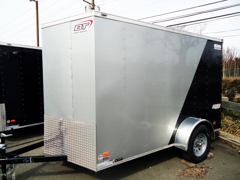 2019 Bravo Trailers 6X10 SC SA V RAMP MINI VNT APP SILVER BLACK Enclosed Cargo Trailer