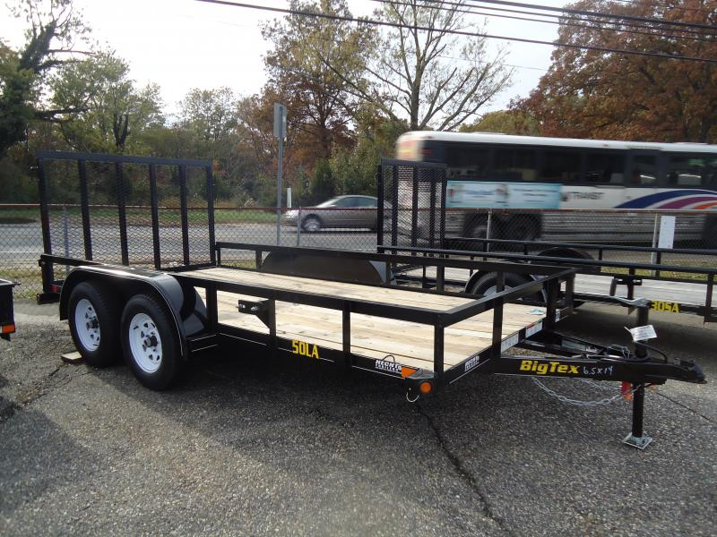 2019 Big Tex Trailers UT 6.5X14 50LA 14BK 4RG 2EB BLACK Utility Trailer