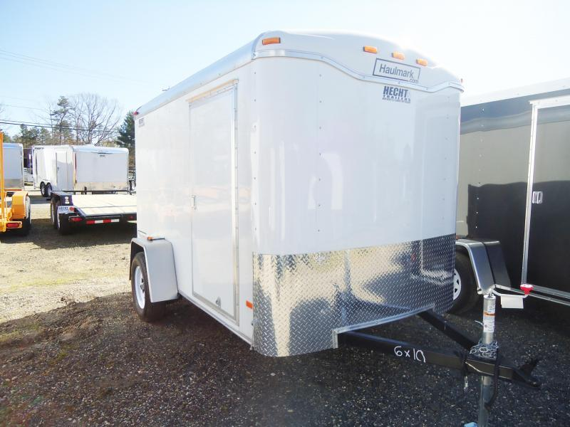 2017 Haulmark 6X12TST DS2 RAMP DRNG R VNT WHITE Enclosed Cargo Trailer