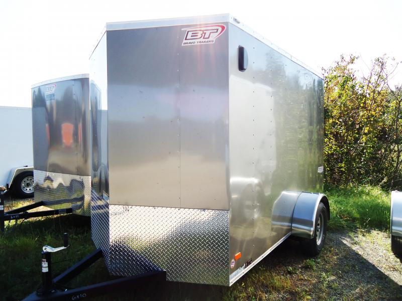 "2019 Bravo Trailers 6X10 SC SA V MC RAMP 6""V PEWTER Enclosed Cargo Trailer"