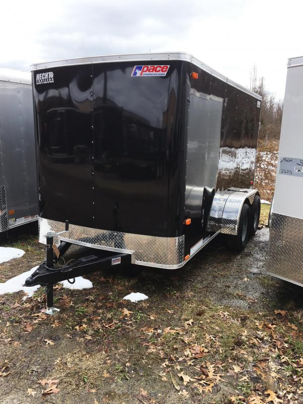 2018 Pace American 6X12 OB TE2 RAMP DOME LIGHT BLACK Enclosed Cargo Trailer