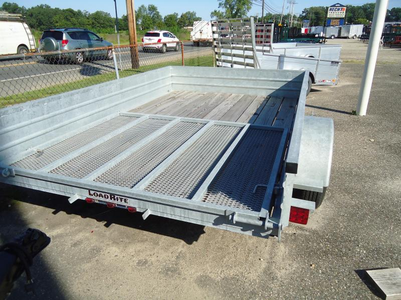 2016 Load Rite GALVANIZED UT 6.5X10SS SOLID SIDES&GATE SPARE MOUNT UTILITY TRAILER