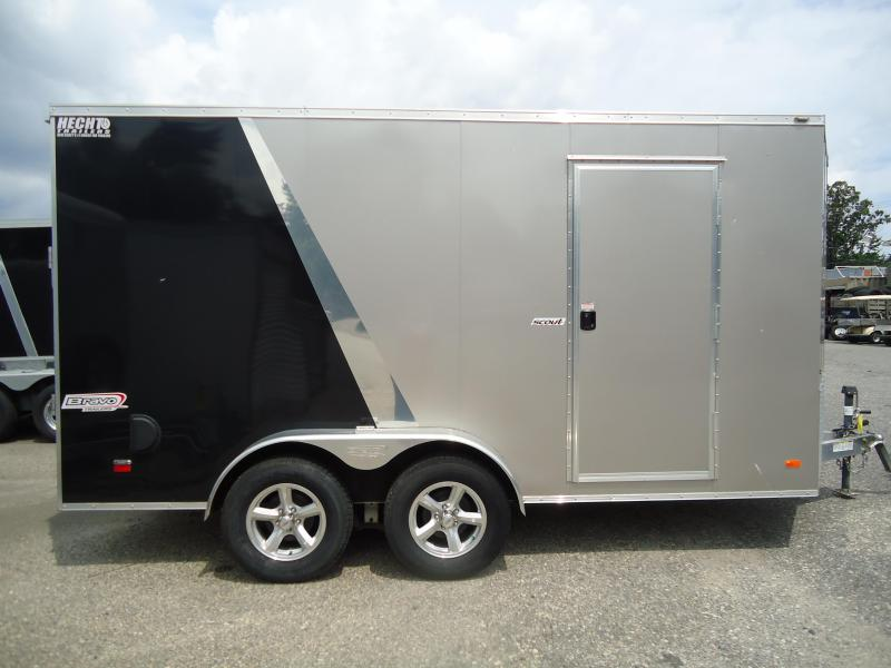 "2016 BRAVO 7X14ASC TA2 V ALUM 6""X MD RAMP CHAMPAGNE & BLACK Enclosed Cargo Trailer"