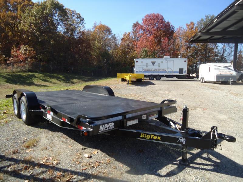 2017 Big Tex Trailers CH-7X18 10DM-18BK BLACK Car / Racing Trailer