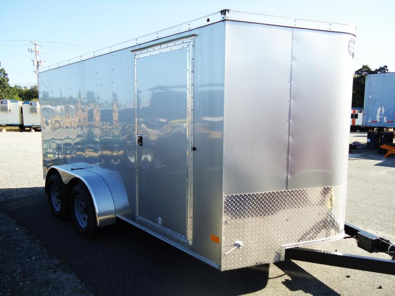 2017 Wells Cargo 7X14 FT TA RAMP SILVER Enclosed Cargo Trailer
