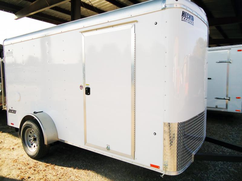 2019 Pace American 6X12 JT SI2 RAMP SVNTS DRNG WHITE Enclosed Cargo Trailer