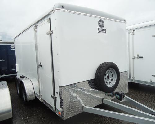 2015 Wells Cargo 7x16CW ADJ CPLR XAFRM LS PKG Enclosed Cargo Trailer