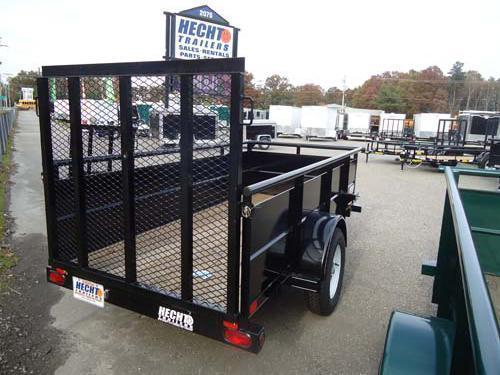 2019 Big Tex Trailers UT 5X8 30SV-08BK4RG BLACK Utility Trailer