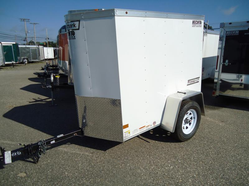 2018 Haulmark 4X6 PPT DS2 WHITE Enclosed Cargo Trailer