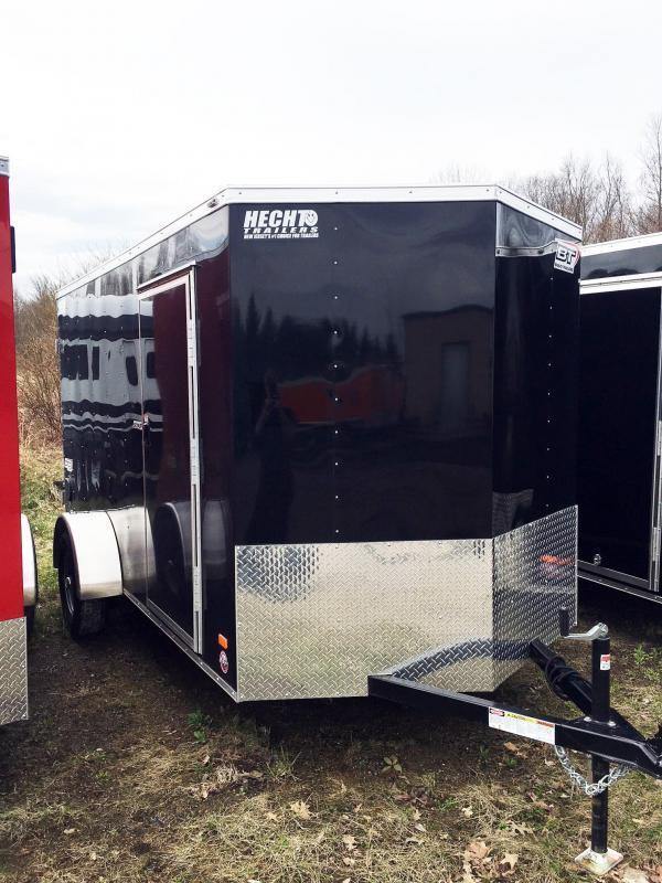 """2019 Bravo Trailers 6X12 SC SA 18""""V APP BLACK Enclosed Cargo Trailer"""