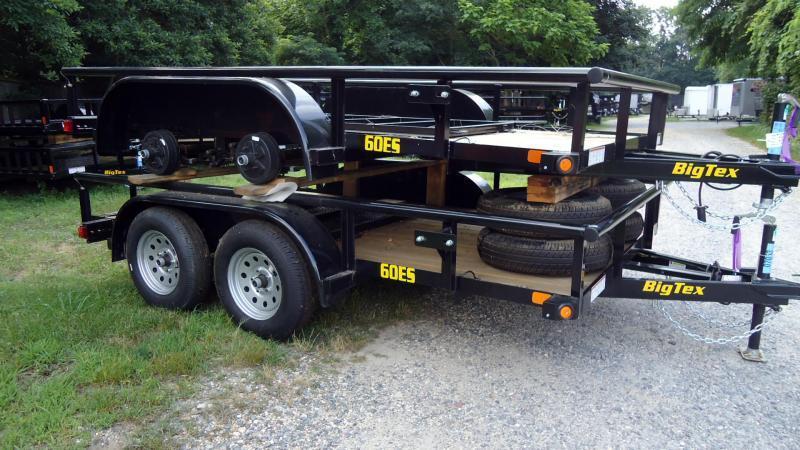 2020 Big Tex Trailers UT 6.5X12 60ES 12BK4RG BLACK Utility Trailer