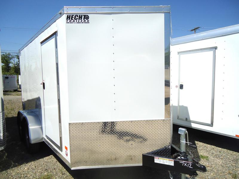 2019 Bravo Trailers 7X12 ST TA2 V DRNG RAMP+ APP WHITE Enclosed Cargo Trailer