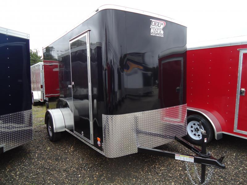 2018 Bravo Trailers 6X12 SC SA 6X SC+ LD RAMP FD JCK APP BLACK Enclosed Cargo Trailer