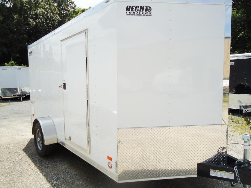 2017 Bravo 7x12 ST SA V RAMP APP WHITE Enclosed Cargo Trailer