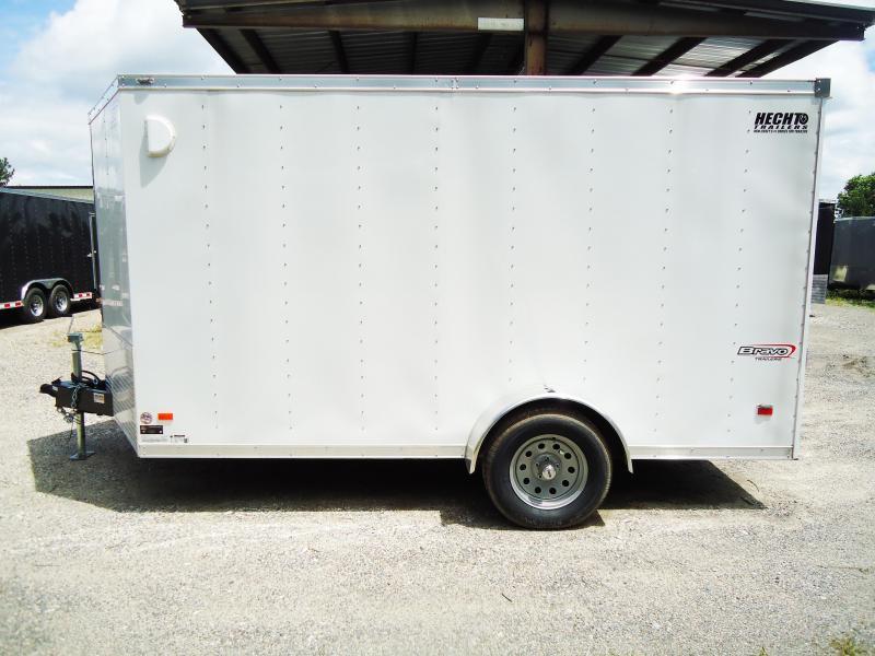 2017 Bravo 7x12 ST SA V RAMP APP WHITE Enclosed Cargo Trailer