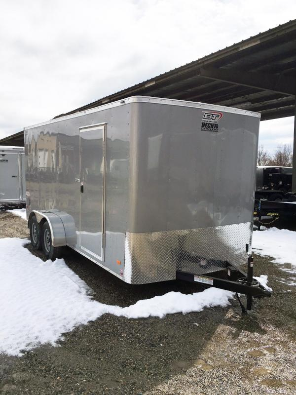 "2019 Bravo Trailers 7X16 SC TA2 6""X RAMP+ SILVER Enclosed Cargo Trailer"
