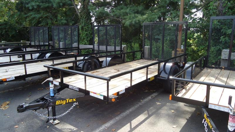 2020 Big Tex Trailers UT 5X12 30SA 12BK 4RG BLACK Utility Trailer