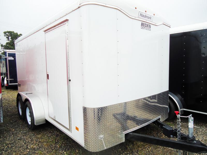 2017 Haulmark 7X14 TST WT2 RAMP WHITE Enclosed Cargo Trailer