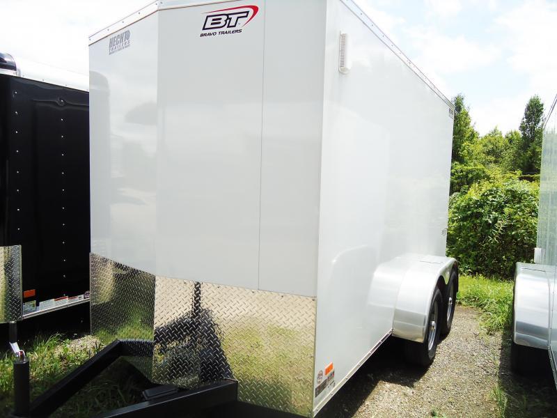 2018 Bravo Trailers 6X12 SC TA2 6X SC+ MD RAMP APP WHITE Enclosed Cargo Trailer