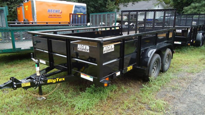 2020 Big Tex Trailers UT 7X12 70TV 12BK4RG BLACK Utility Trailer