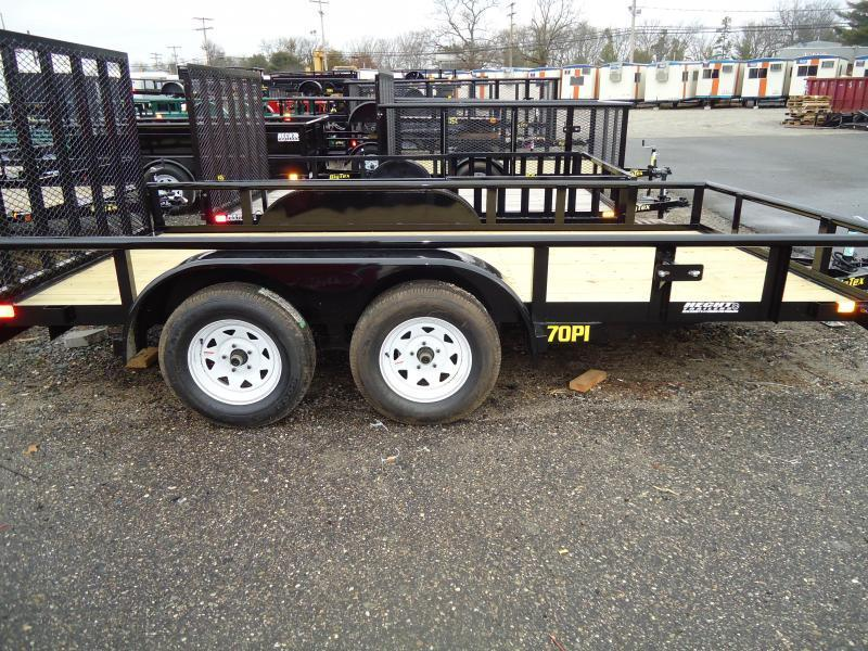 2019 Big Tex Trailers UT 7X14 70PI 14X BK 4RG ADJ COUP BLACK Utility Trailer