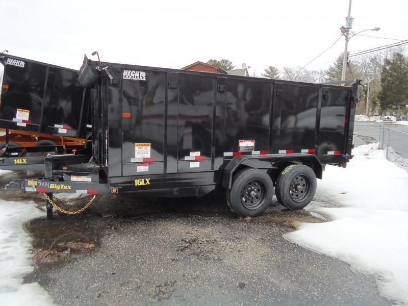 2018 Big Tex Trailers DT 7X14 16LX 14BK 7SIRPD P4 TARP BLACK Dump Trailer