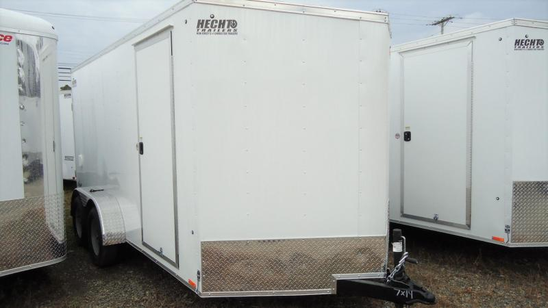 "2020 Pace American 7X14 OBDLX TE2 30VS 6""X RAMP SVNT WHITE Enclosed Cargo Trailer"