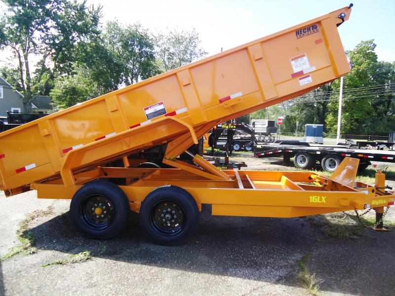 2019 Big Tex Trailers DT 7X16 16LX 16YE 7SIRPD TARP YELLOW Dump Trailer