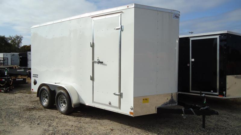 2020 Haulmark 7X14 PPT T2-D RAMP WHITE Enclosed Cargo Trailer