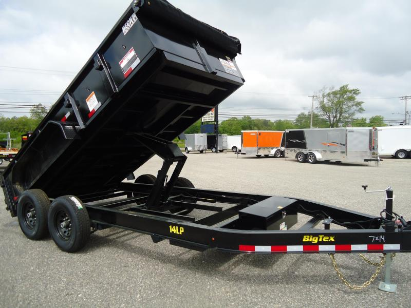 2018 Big Tex Trailers DT 7X14 14LP 14BK 7SIRPD TARP BLACK Dump Trailer