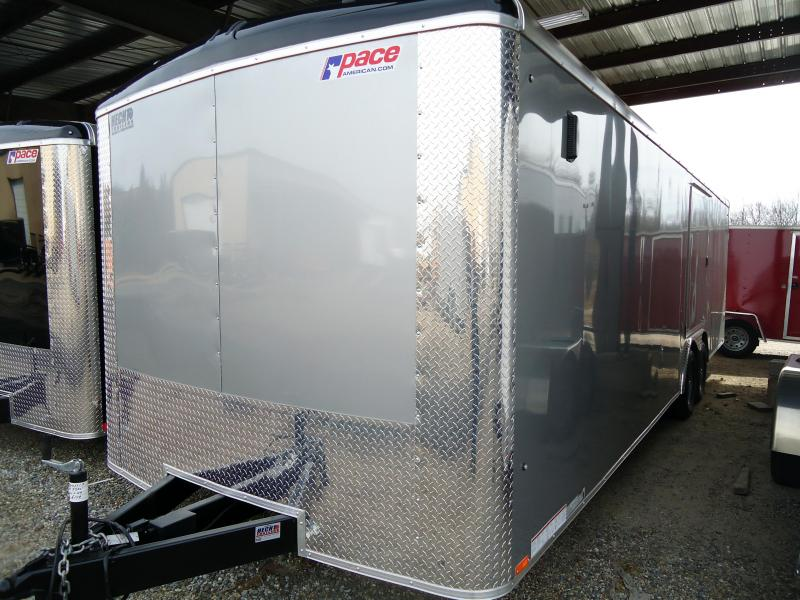 2019 Pace American 8.5X26 JTSE TE3 RAMP SD SVNTS BLACK Car / Racing Trailer