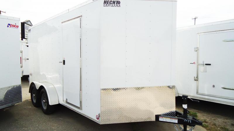 2020 Bravo Trailers 7X14 SC TA2 30V 6X APP WHITE Enclosed Cargo Trailer