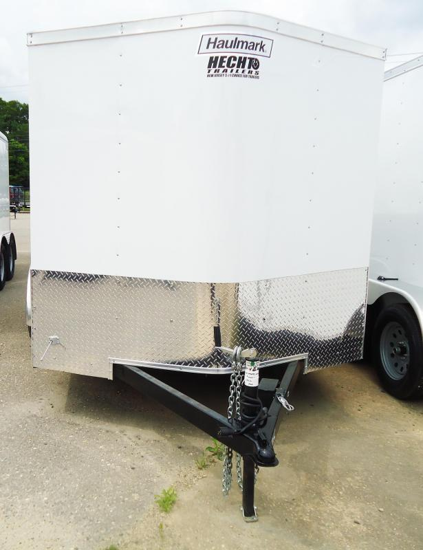 2017 Haulmark 7X12 PPT DT2 RAMP WHITE Enclosed Cargo Trailer
