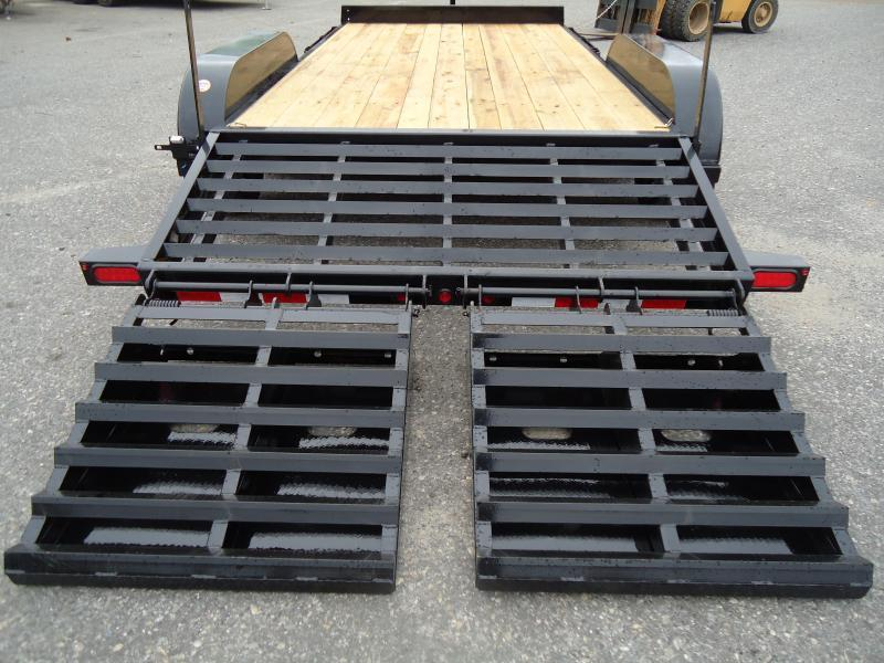 2018 Big Tex Trailers EH 7X18 14ET-18BK-MR DT MEGA RAMPS BLACK Equipment Trailer