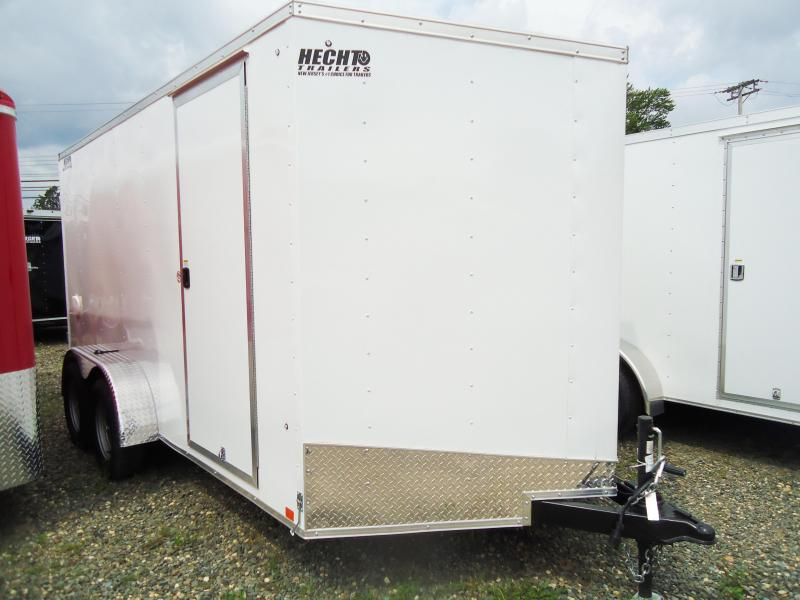 2018 Pace American 7X14 OB DLX V TE2 6X RAMP SVNTS WHITE Enclosed Cargo Trailer