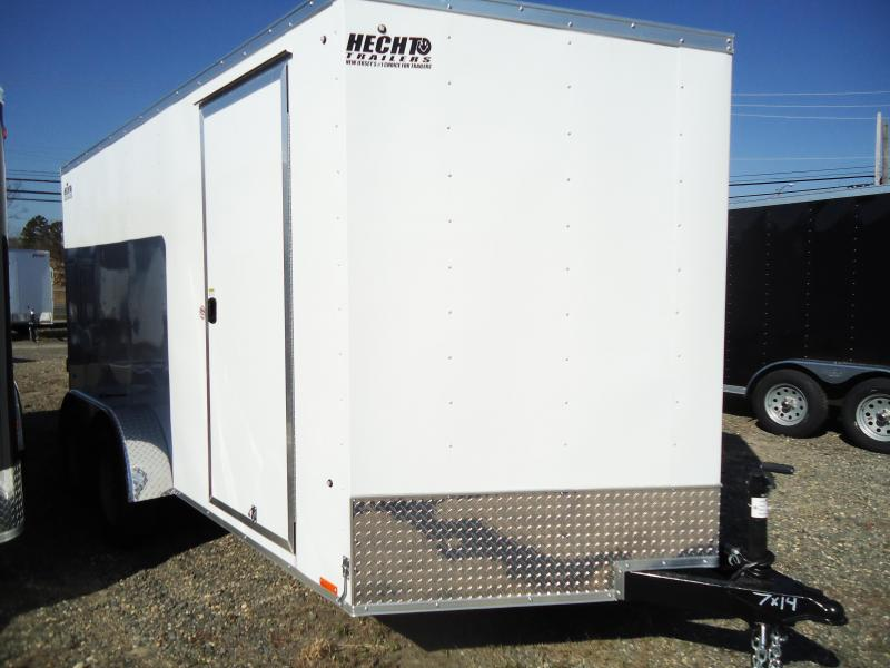 2019 Pace American 7X14 OBDLX TE2 30 VS 6X RAMP SVNTS WHITE Enclosed Cargo Trailer