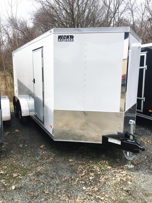 "2019 Bravo Trailers 7X16 ST TA2 30""V RAMP APP WHITE Enclosed Cargo Trailer"