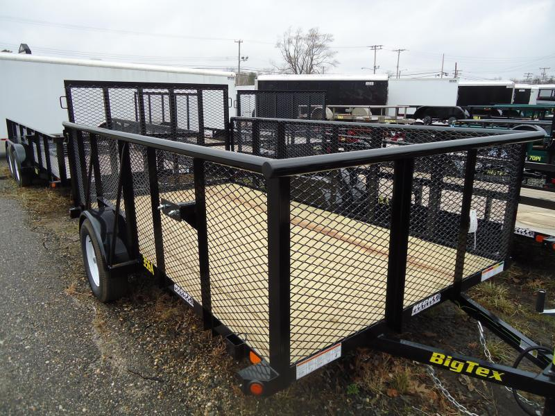2018 Big Tex Trailers UT 6.5X12 35SA-10BK 4RG 3' EXP METAL SIDES BLACK Utility Trailer
