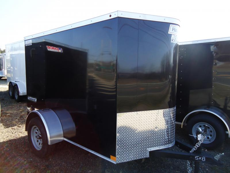 2019 Haulmark 5X8 TSV S2 SCREWLESS BLACK Enclosed Cargo Trailer