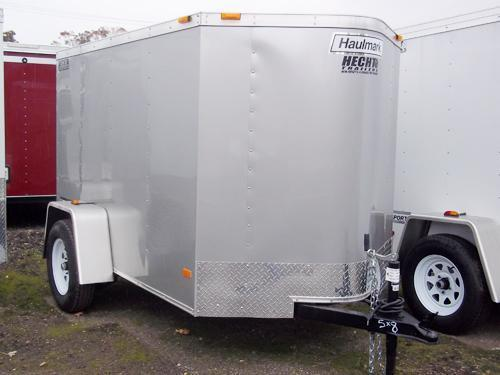 2017 Haulmark 5X8 PPT DS2 ELECTRIC BREAKS SILVER Enclosed Cargo Trailer