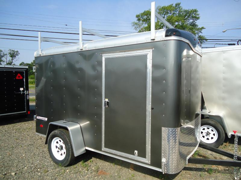 2017 Haulmark 6X10 TST DS2 LADDER RACK GRAY Enclosed Cargo Trailer