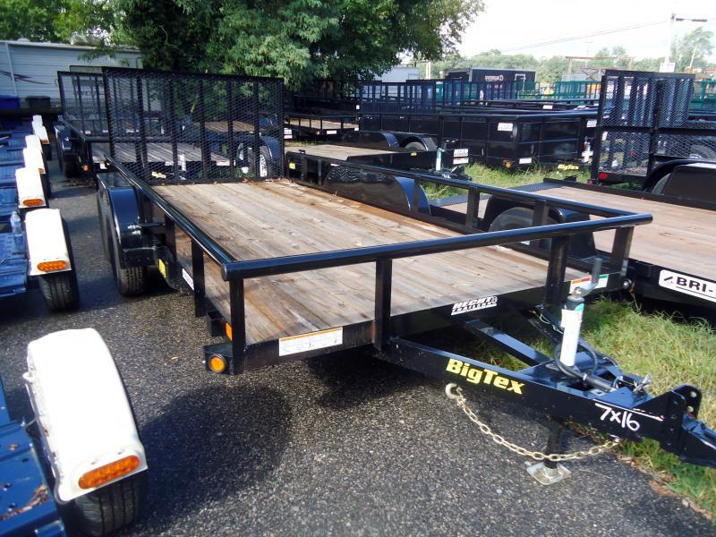 2019 Big Tex Trailers UT 7X16 70PI 16X BK 4SIR BLACK Utility Trailer
