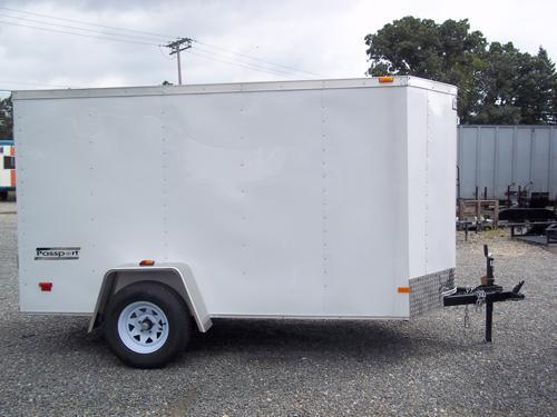 HAULMARK 5X10PPT DS2 LD RAMP WHITE Enclosed Cargo Trailer