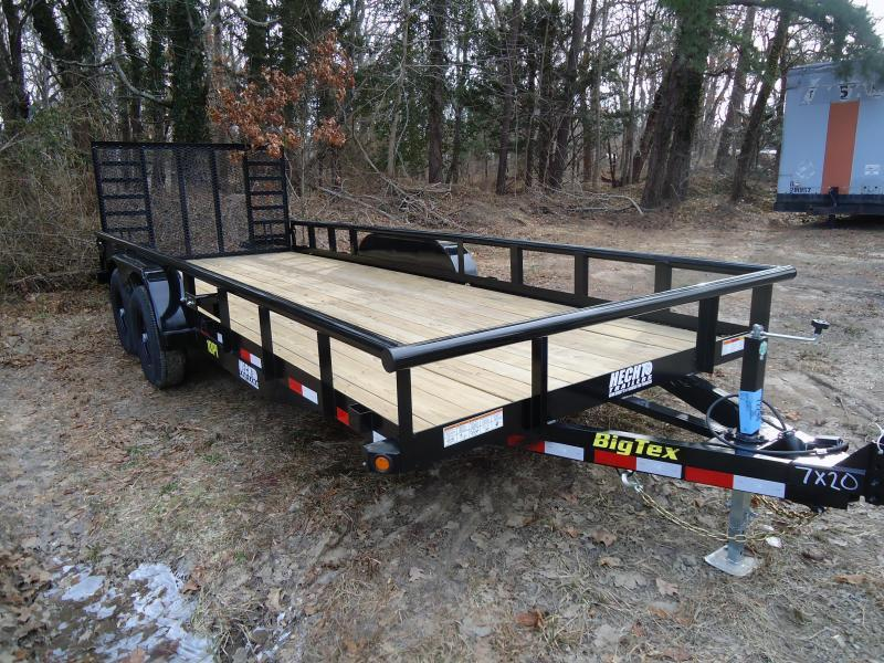 2019 Big Tex Trailers UT 7X20 10PI 20BK 4HD SAG BLACK Equipment Trailer