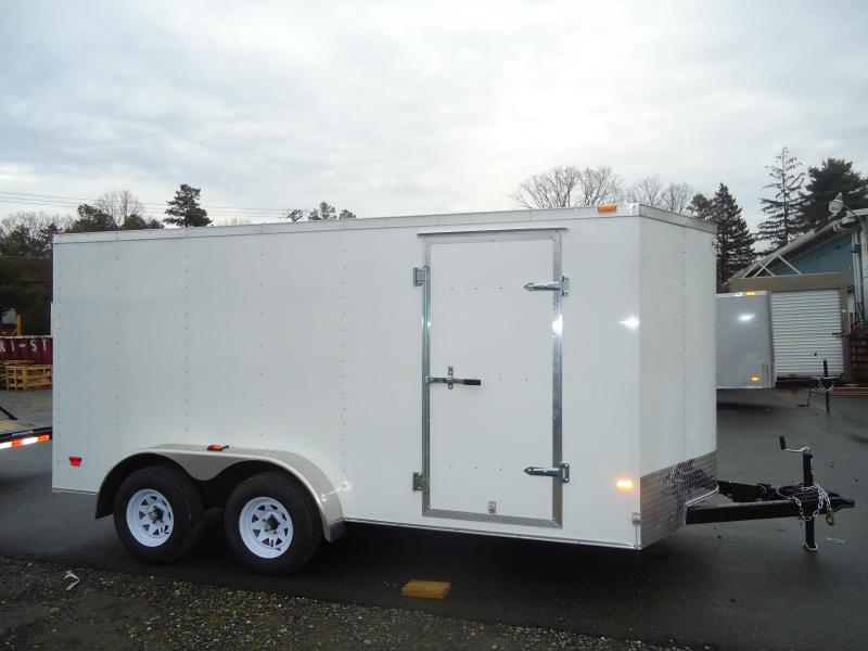 2017 Haulmark 7X16PPT DT2 RAMP DRNG LX PKG WHITE Enclosed Cargo Trailer