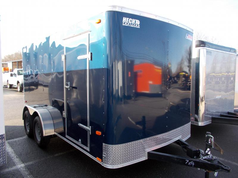 2019 Pace American 7X14 OB TE2 RAMP BLUE Enclosed Cargo Trailer