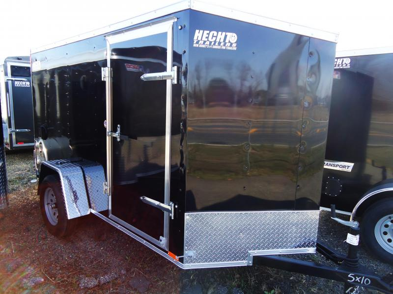 2020 Pace American 5X10 OBDLX SI2 24VS SINGLE RD SIDE D SVNTS BLACK Enclosed Cargo Trailer